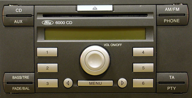 Ford 6000CD stereo