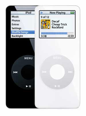 iPod Nano 1st Gen Black/White